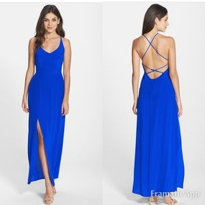 Charlie Jade 100% Silk Strappy Back Maxi Dress